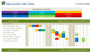 Content Marketing Editorial Calendar 2013