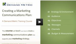 Marketing Communications Plan Course