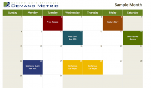 Marketing Calendar Template 2013